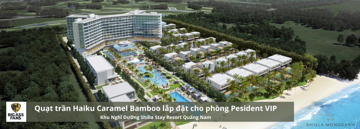 Quạt trần Haiku Caramel Bamboo tại Khu nghỉ dưỡng Shilla Stay Resort Quảng Nam